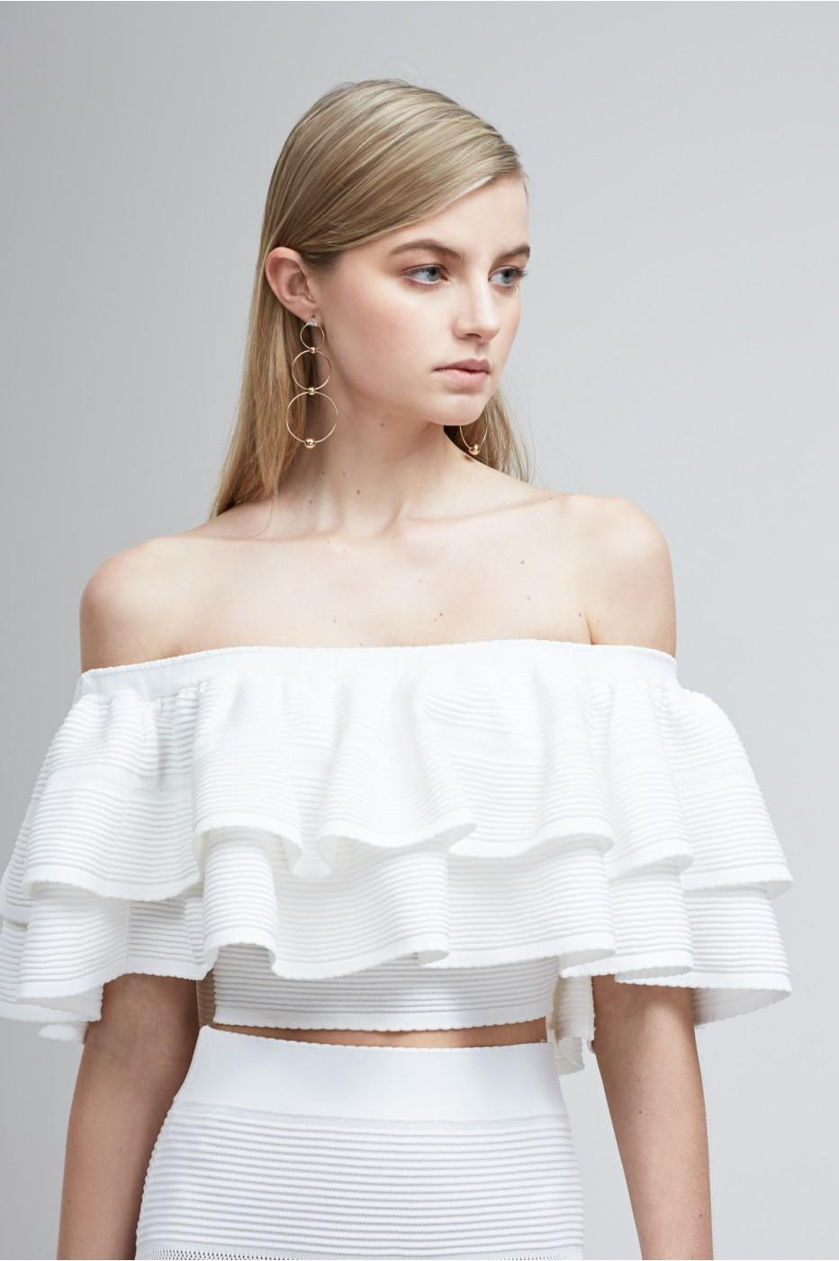 Moonlight Dress Knitting Pattern : Keepsake Moonlight Knit Top in White Lyst