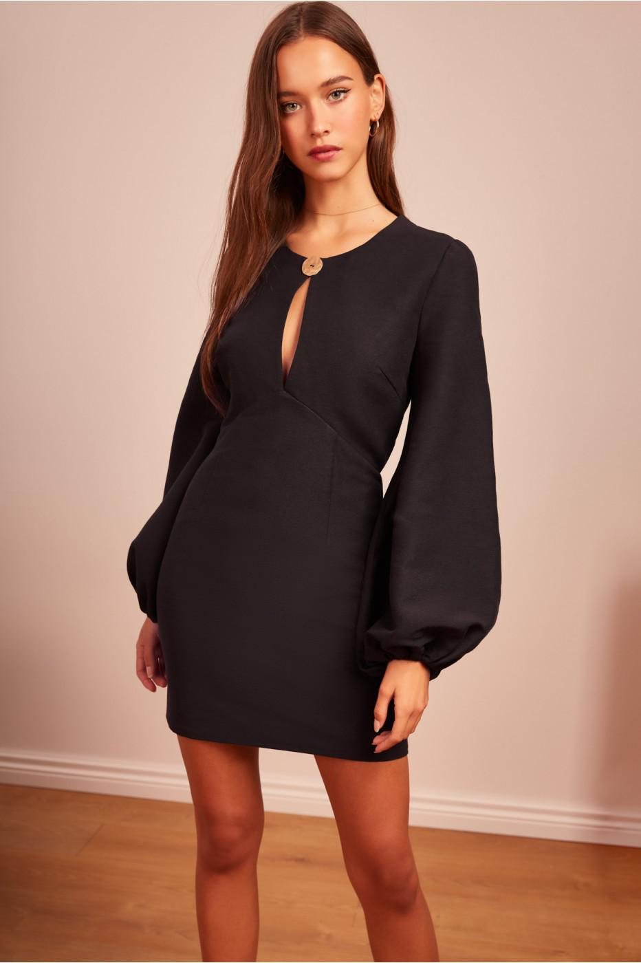 de006a5c29dd Finders Keepers Pompeii Long Sleeve Dress in Black - Lyst