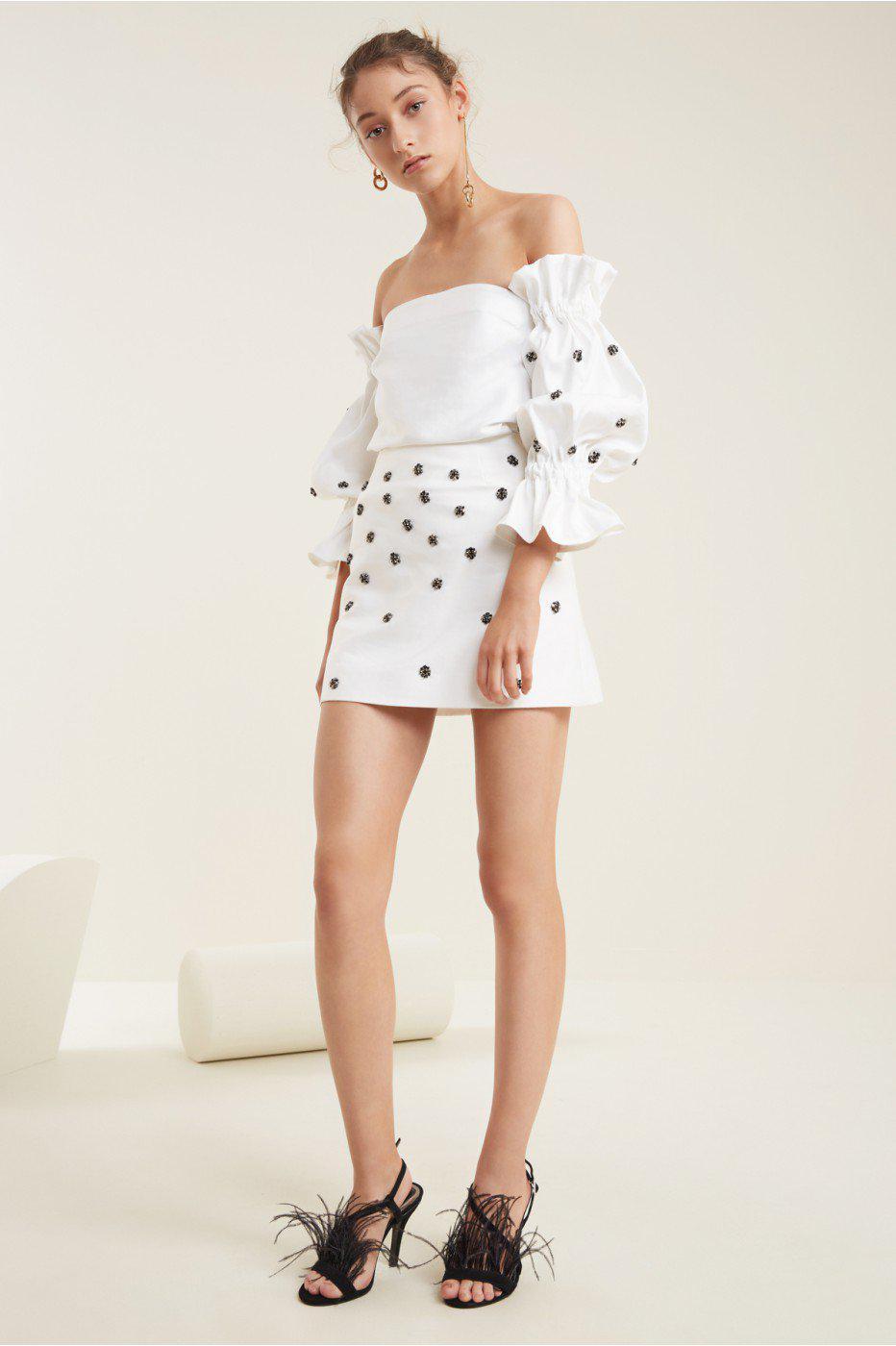 37d534da5bc353 C/meo Collective Assemble Mini Skirt in White - Lyst