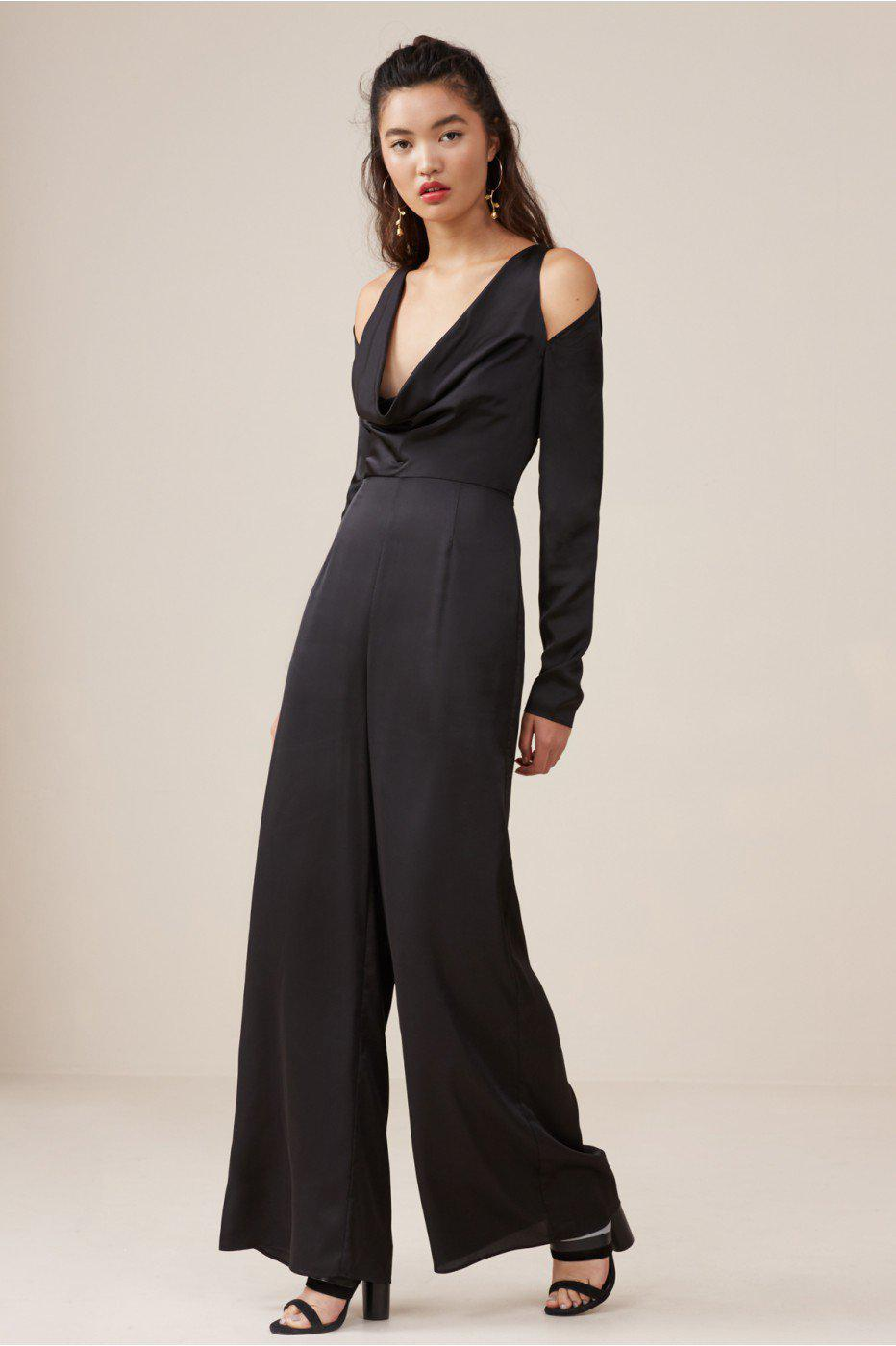 1fd60549354 Lyst - Finders Keepers Aspects Long Sleeve Jumpsuit in Black