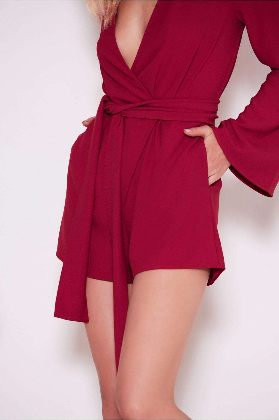 0b0a2966bb7 Lyst - The Fifth Label Chemistry Long Sleeve Playsuit in Red