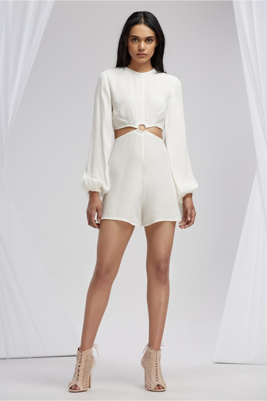 6872fdb513f Lyst - Finders Keepers Emmerson Playsuit in White