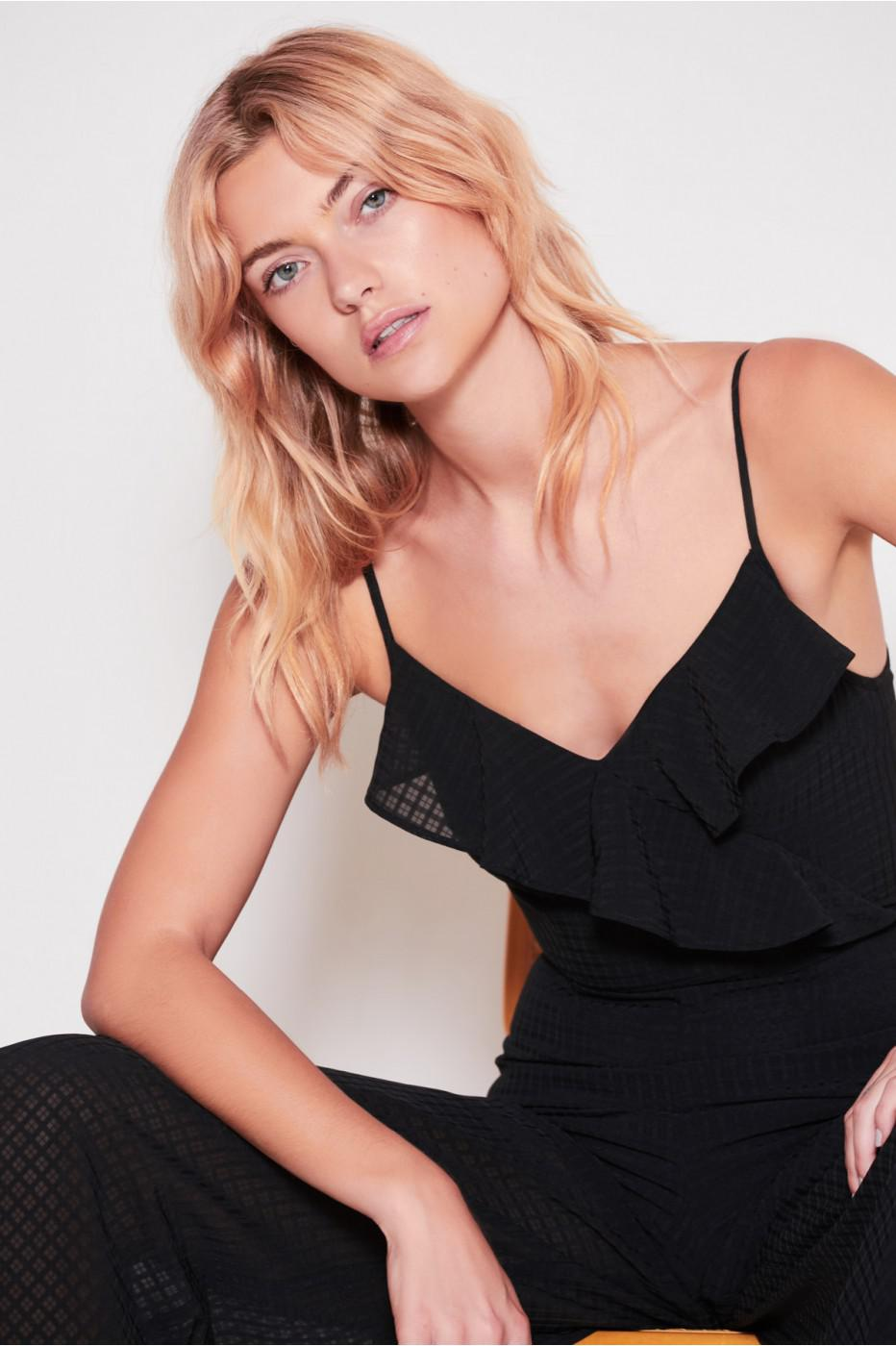 b02ed94f448 Lyst - The Fifth Label Window Jumpsuit in Black