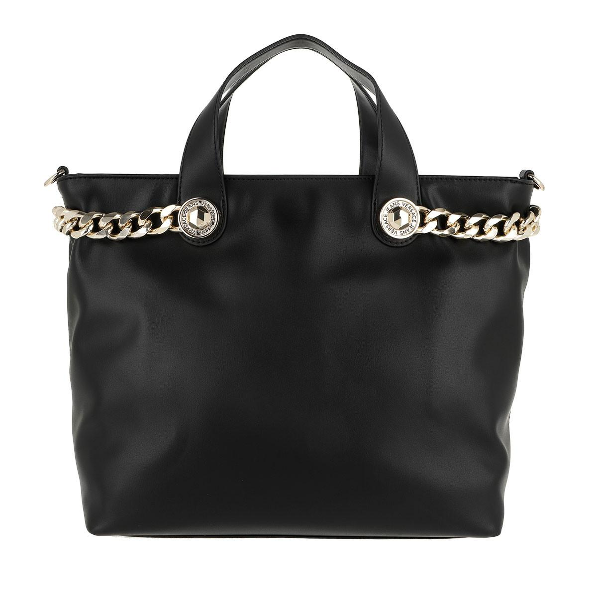 Versace Jeans Chain Shoulder Bag Black in Black - Lyst ba5ca3c668