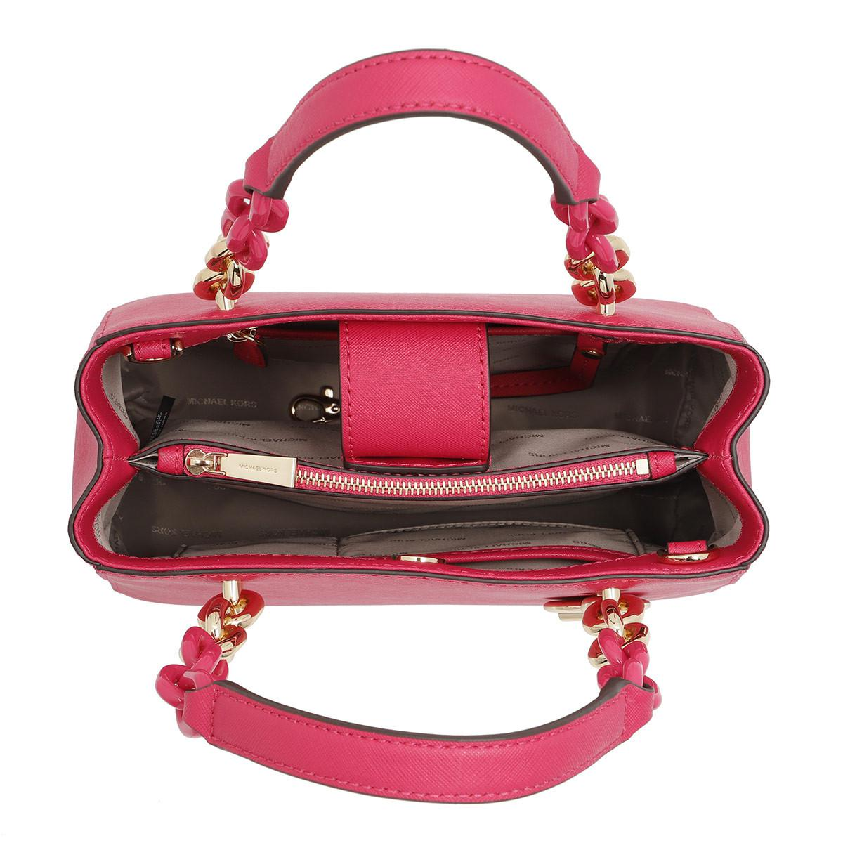 ba35d2630c05 Michael Kors Cynthia Sm Ns Convertible Satchel Bag Ultra Pink in ...