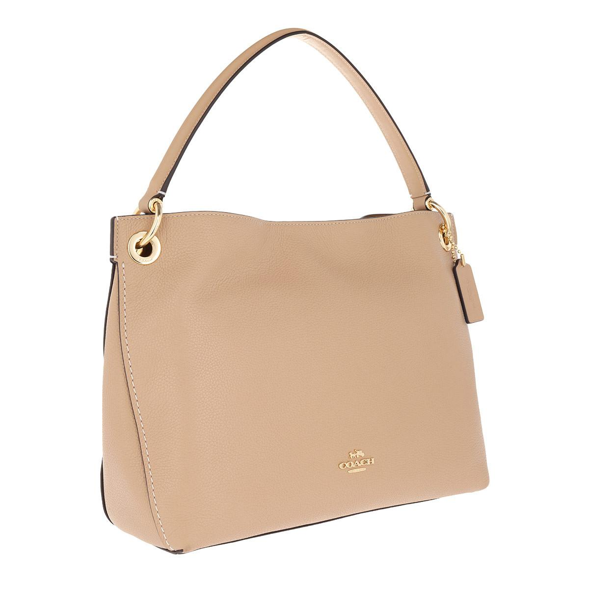 8e9fd4fd69ade COACH - Natural Polished Pebbled Leather Clarkson Hobo Bag Beechwood - Lyst