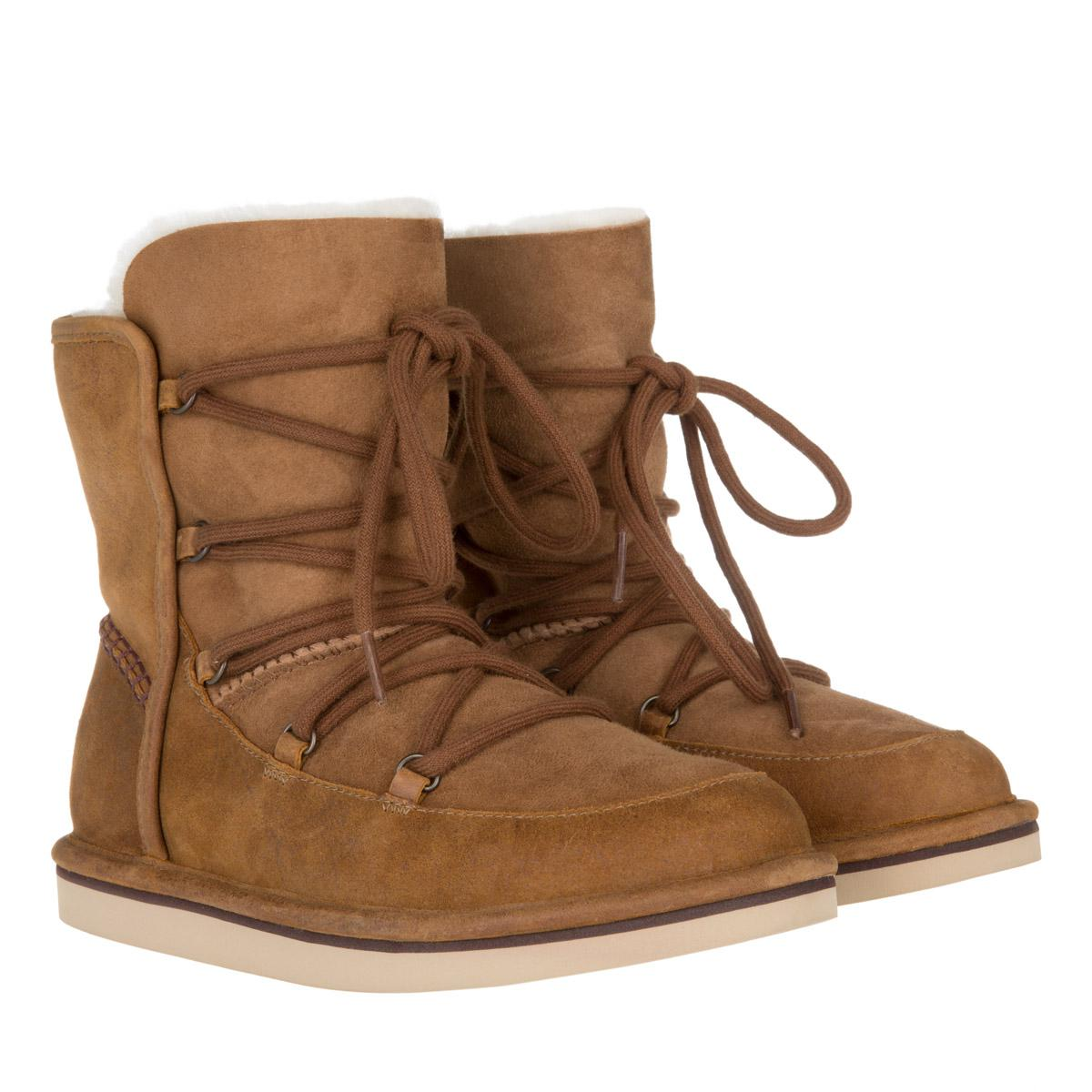 243aec78e67 UGG W Lodge Chestnut in Brown - Lyst