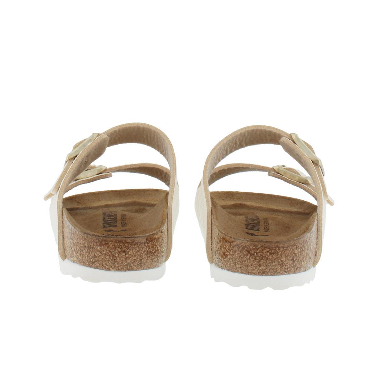 7a61e19b5bd76 Birkenstock Arizona Bs Narrow Fit Sandal Shiny Snake Cream in White ...