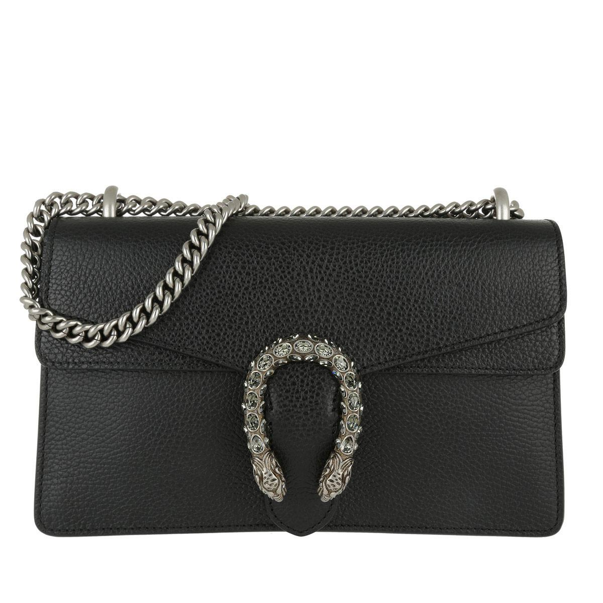 36bbb5f3493892 Gucci Dionysus Small Leather Shoulder Bag in Black - Save 21% - Lyst