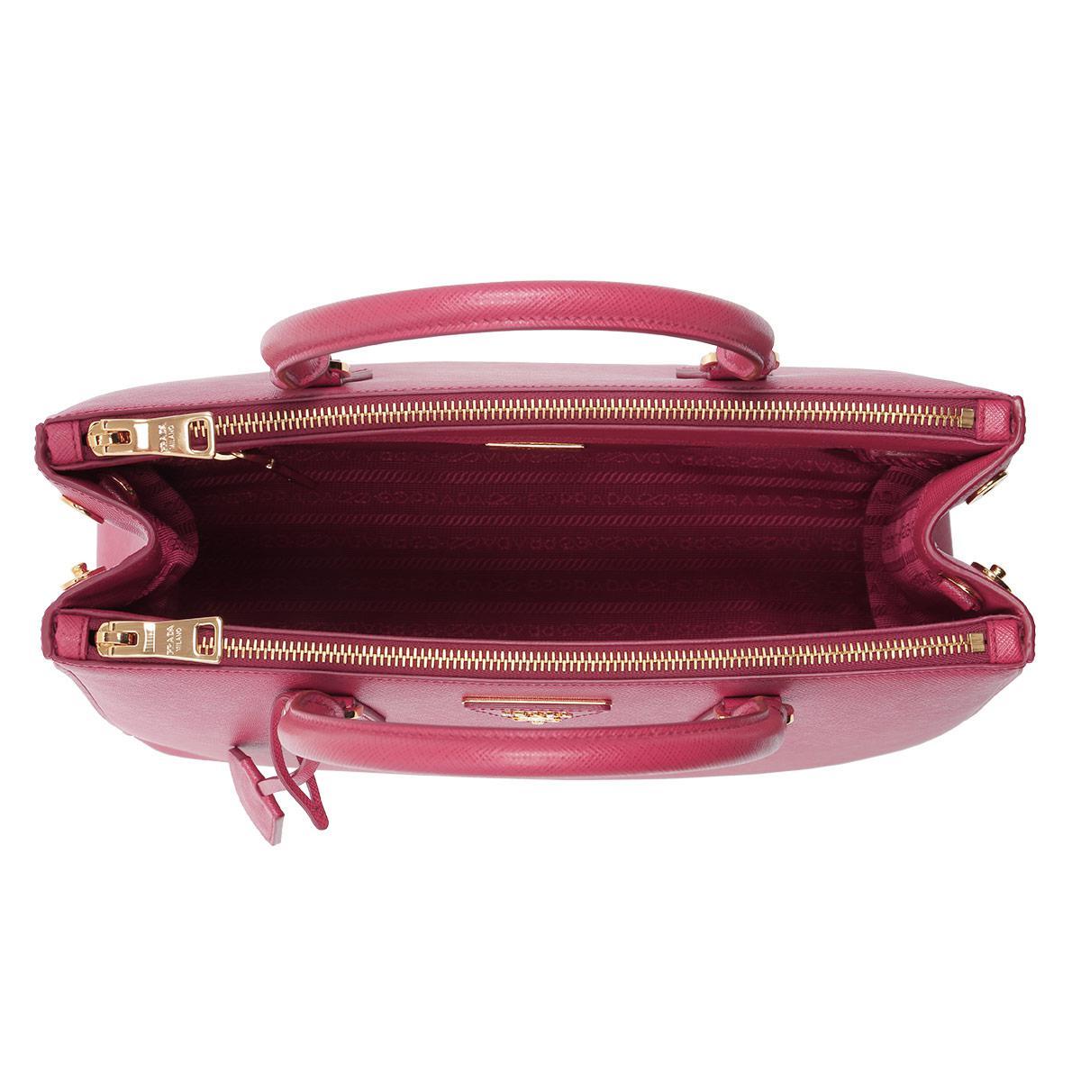 4c1e0f1fff Pink In Prada Borsa Mano Lyst A Lux Peonia Saffiano g1f0qwZnfO