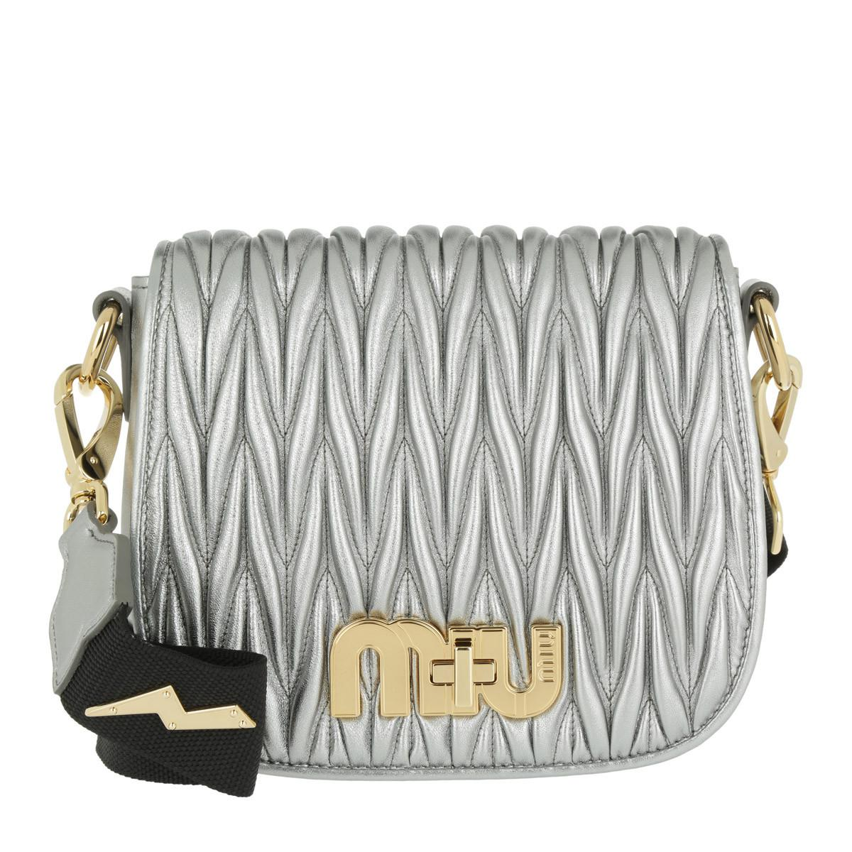 Cross Body Bags - Diagramme Nappa Leather Bag Cromo - silver - Cross Body Bags for ladies Prada TpkaYe