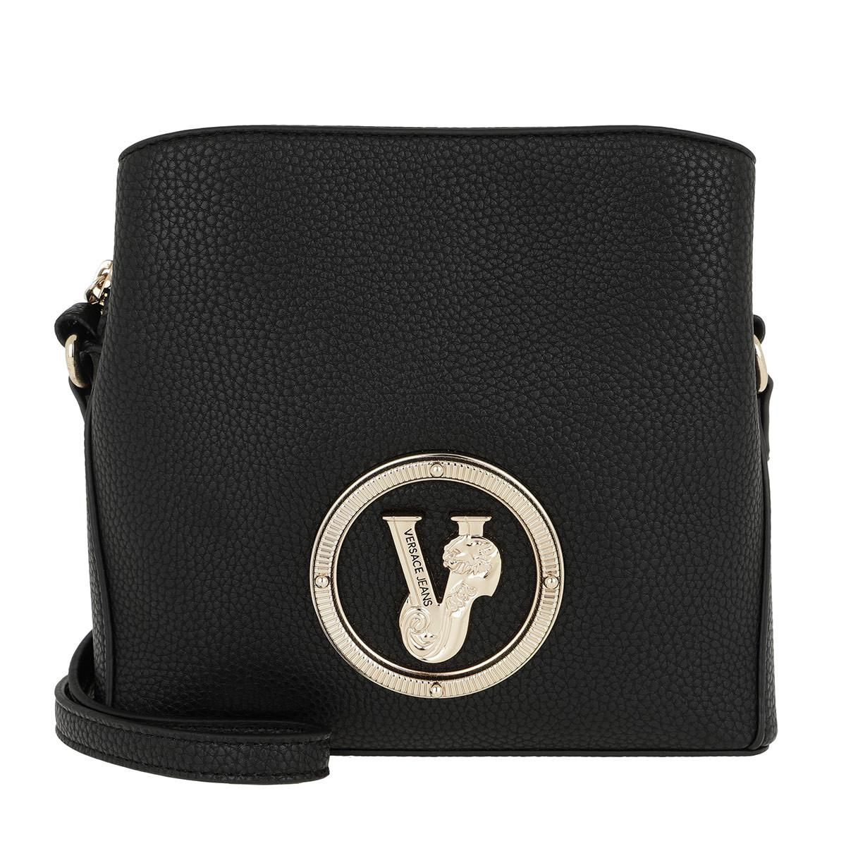 Versace Jeans Logo Mini Bucket Bag Black in Black - Lyst dd4c9defe8