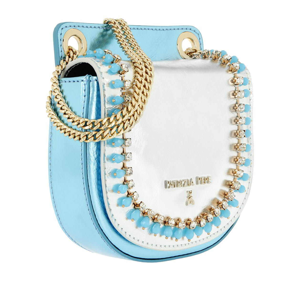 aab2672afd Patrizia Pepe Mini Crossbody Bag Leather Light Sky in Blue - Lyst
