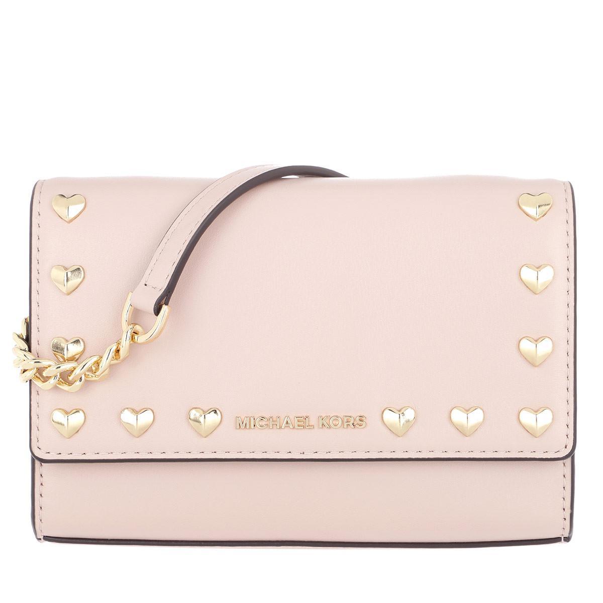 Michael Kors Ruby Medium Clutch Soft Pink in Pink - Lyst b7604a6e94335