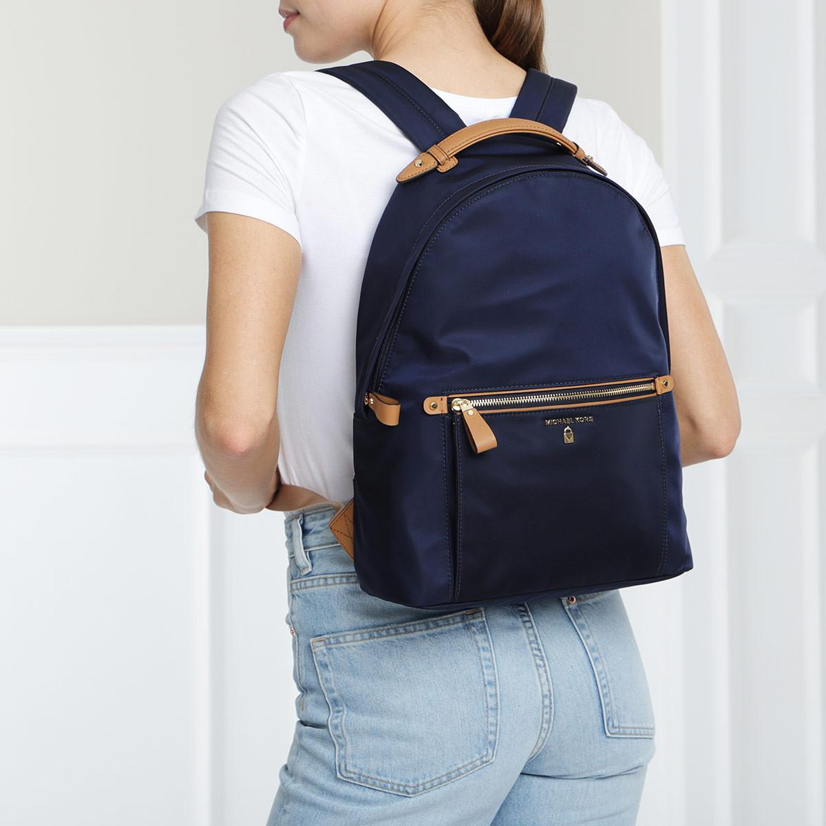 833e7cba9895 Michael Kors - Blue Nylon Kelsey Lg Backpack Admiral - Lyst. View fullscreen