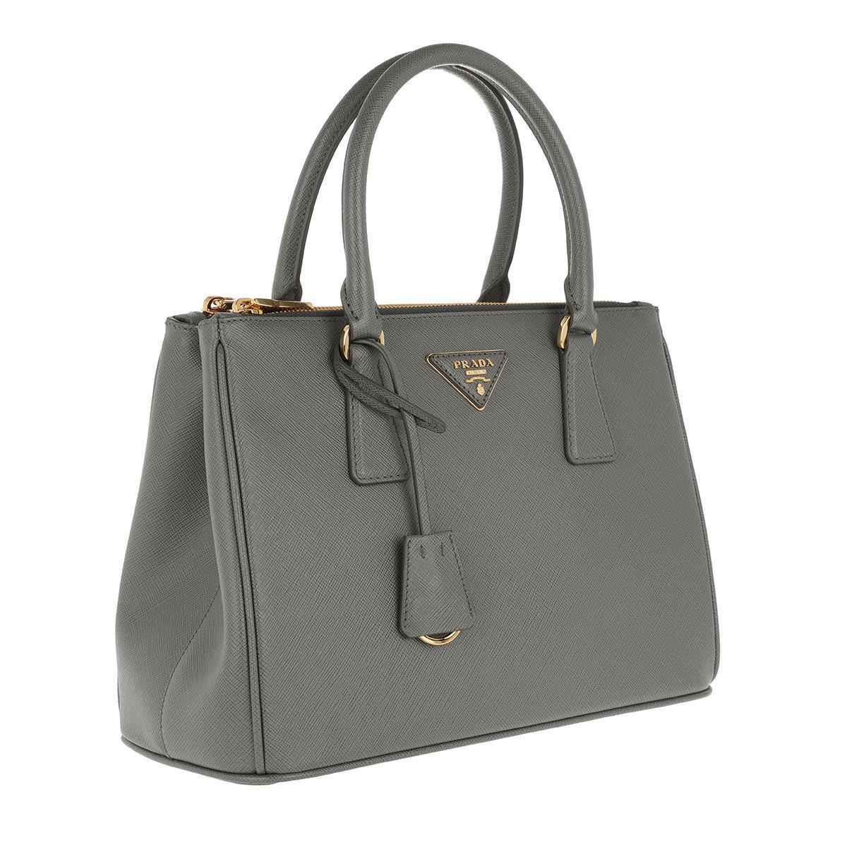 bd572f8163e7c6 Prada Galleria Tote Bag Medium Mercurio in Gray - Lyst