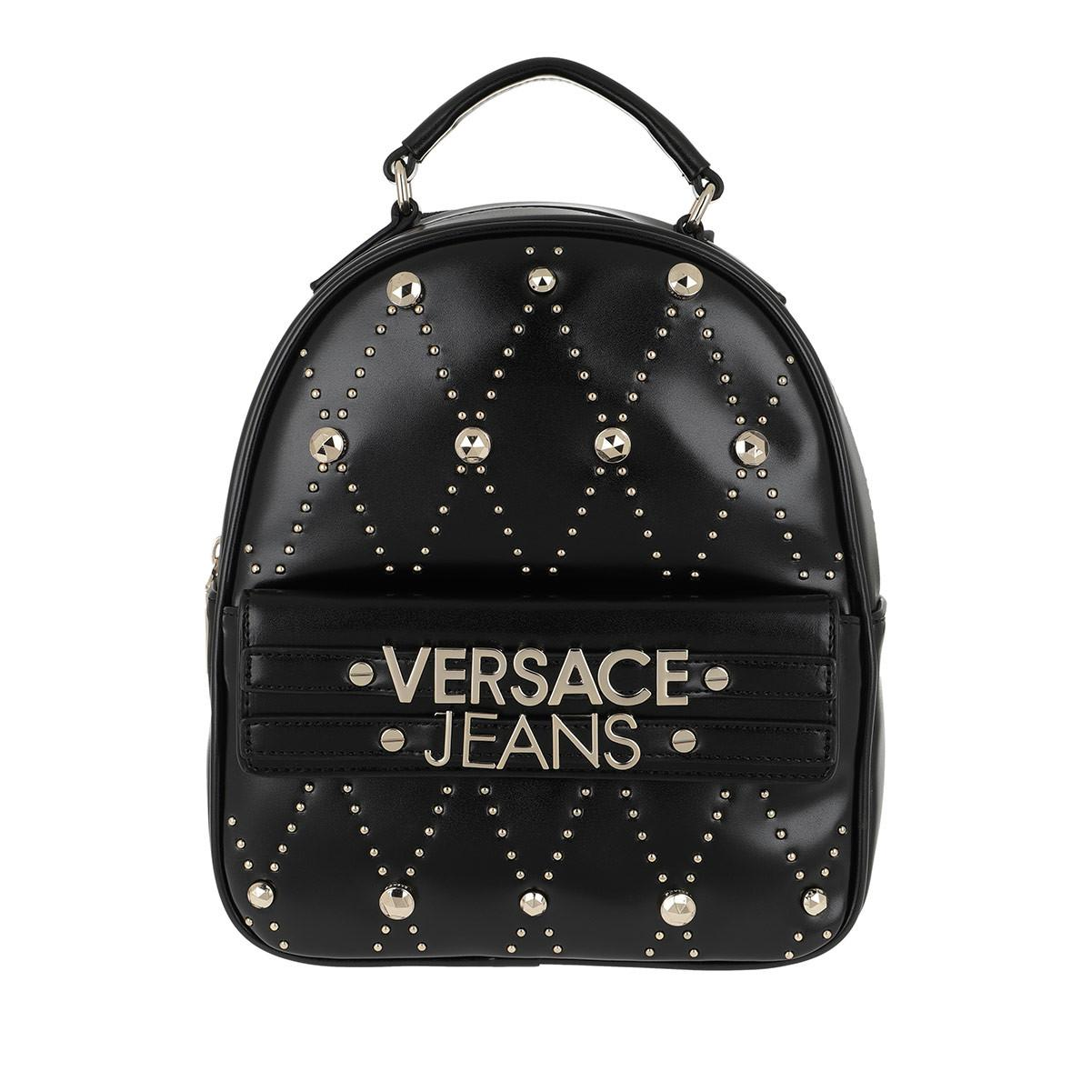 Versace Jeans Studded Logo Backpack Black in Black - Lyst 948c70ff73