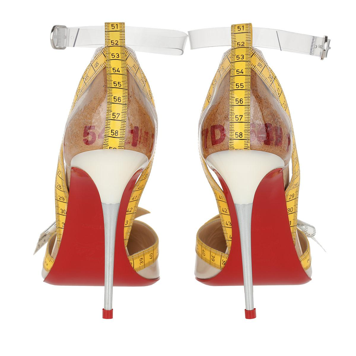6781eeebca5 Christian Louboutin Metripumps 100 Yellow in Yellow - Lyst