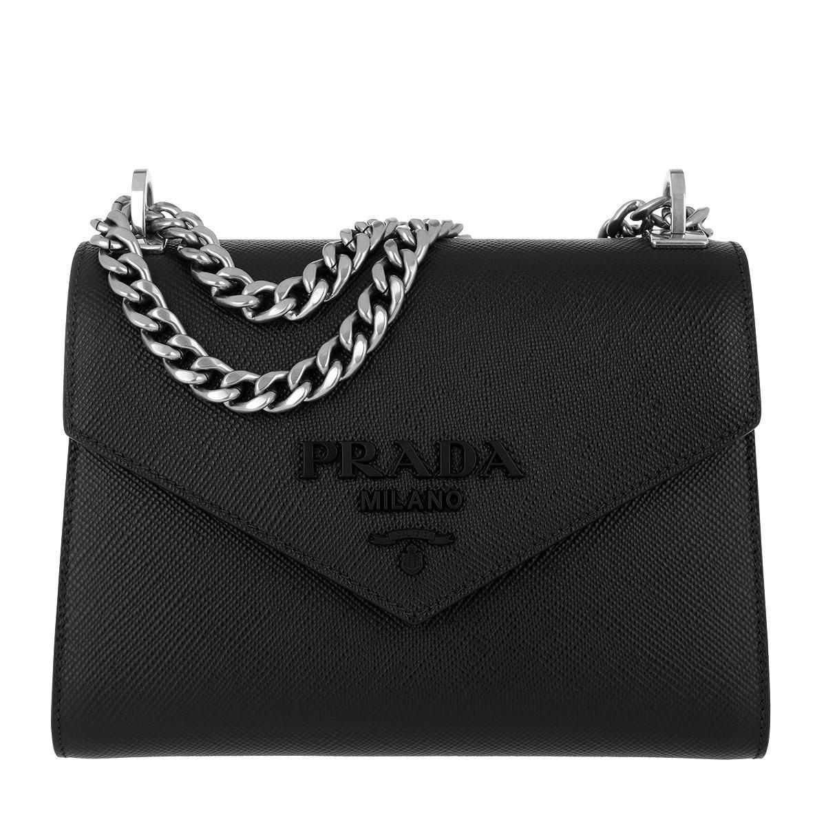 322c739151c4 Prada Monochrome Crossbody Bag Medium Nero in Black - Save 16% - Lyst