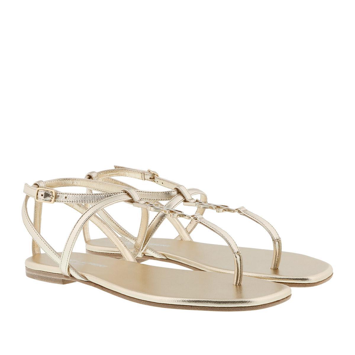 Saint Laurent Sandals - Pied Nu Sandali Flat - - Sandals for ladies Official Site Online 6a7DNfJp7