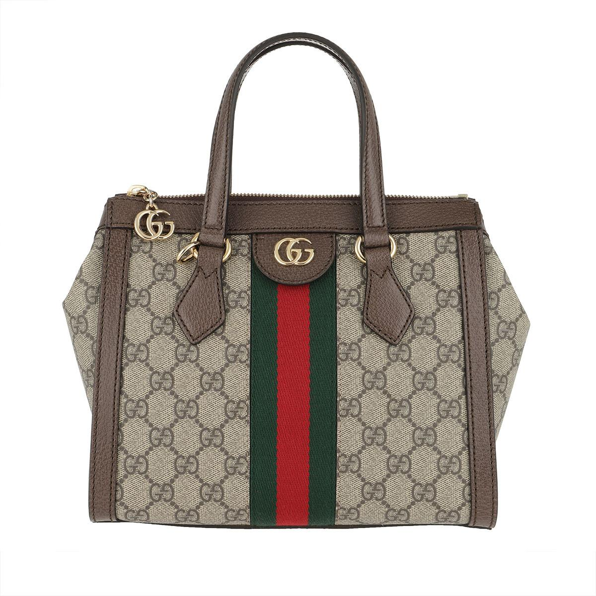 36eb87d8f068 Gucci Ophidia Tote Bag Canvas Small Beige in Brown - Lyst