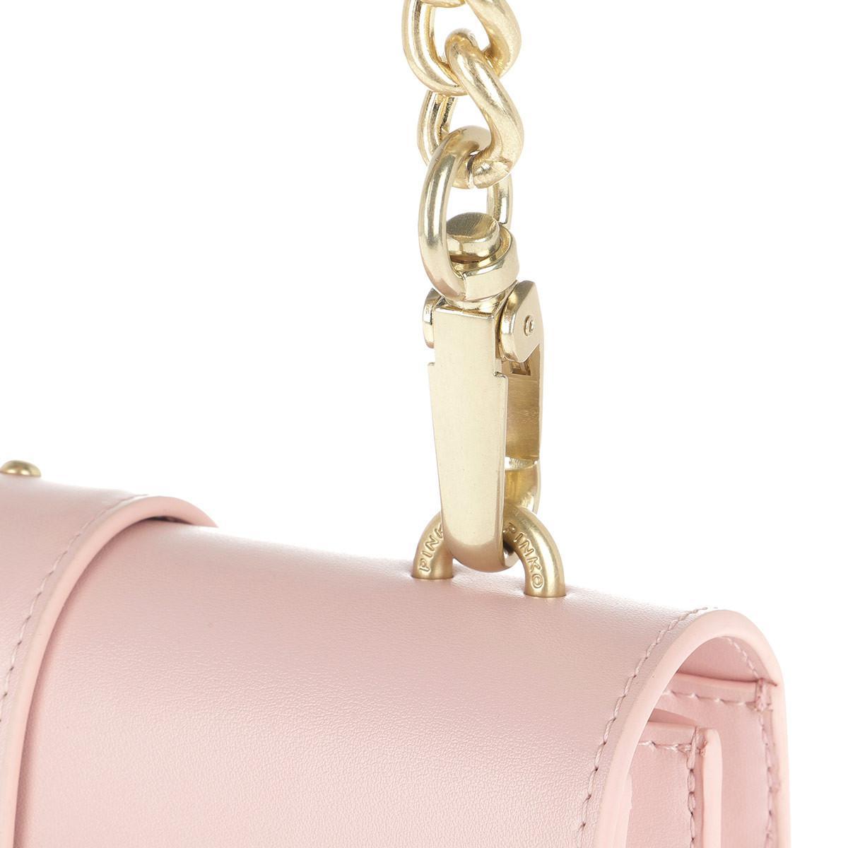 Pinko Love Simply Crossbody Bag Rosa Chiaro in Pink - Lyst 7bfc3326006