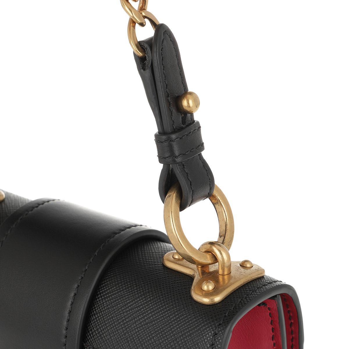 b5c101343a6fee Prada Pionnière Bag Calf/saffiano Medium Fuoco/nero in Black - Lyst