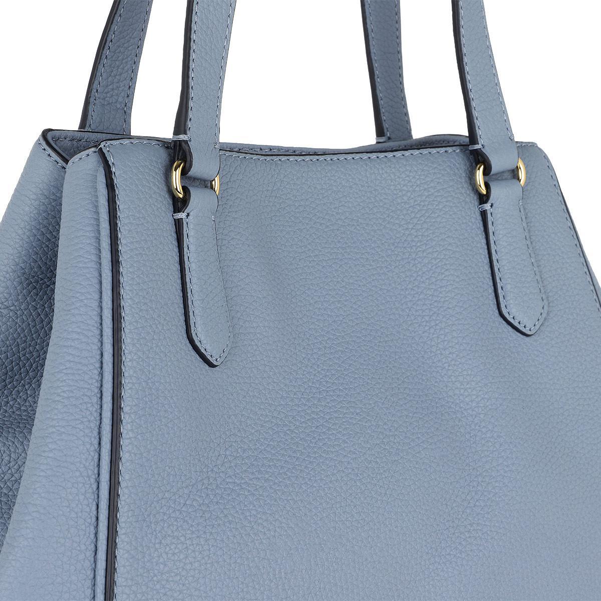 c841151b7a6f Lauren by Ralph Lauren - Huntley Tote Medium Blue Mist - Lyst. View  fullscreen
