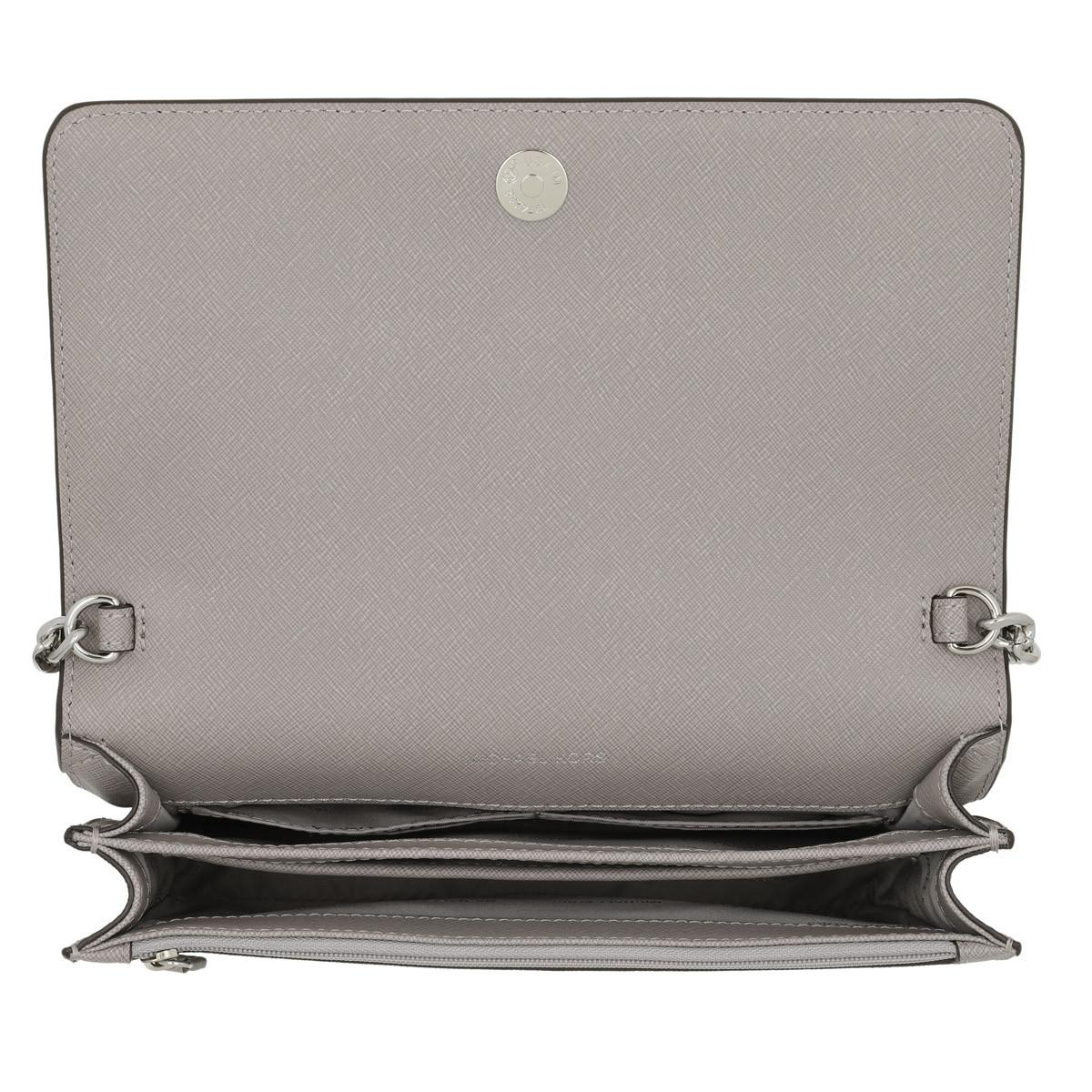 bc2b1924f8a4 Michael Kors Large Gusset Crossbody Bag Pearl Grey in Gray - Lyst