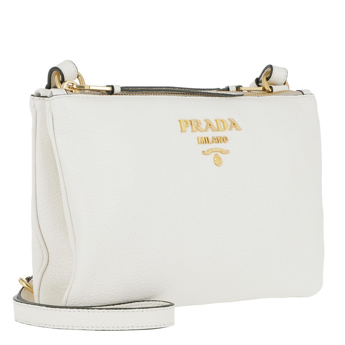 461a431252fe Prada Crossbody Bag Vitello Daino Bianco - Lyst