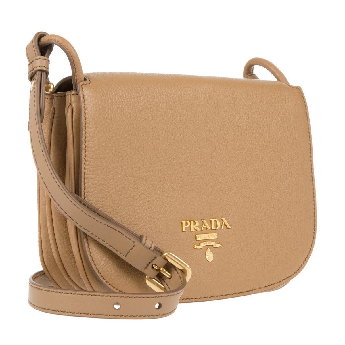 Cross Body Bags - Bandoliera Vitello Daino Cammeo - beige - Cross Body Bags for ladies Prada gYASeyt