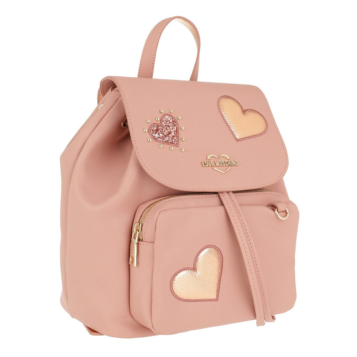 Love Moschino Charming Dolls Backpack Pink in Pink - Save 3% - Lyst 1c8ae4e9a595d