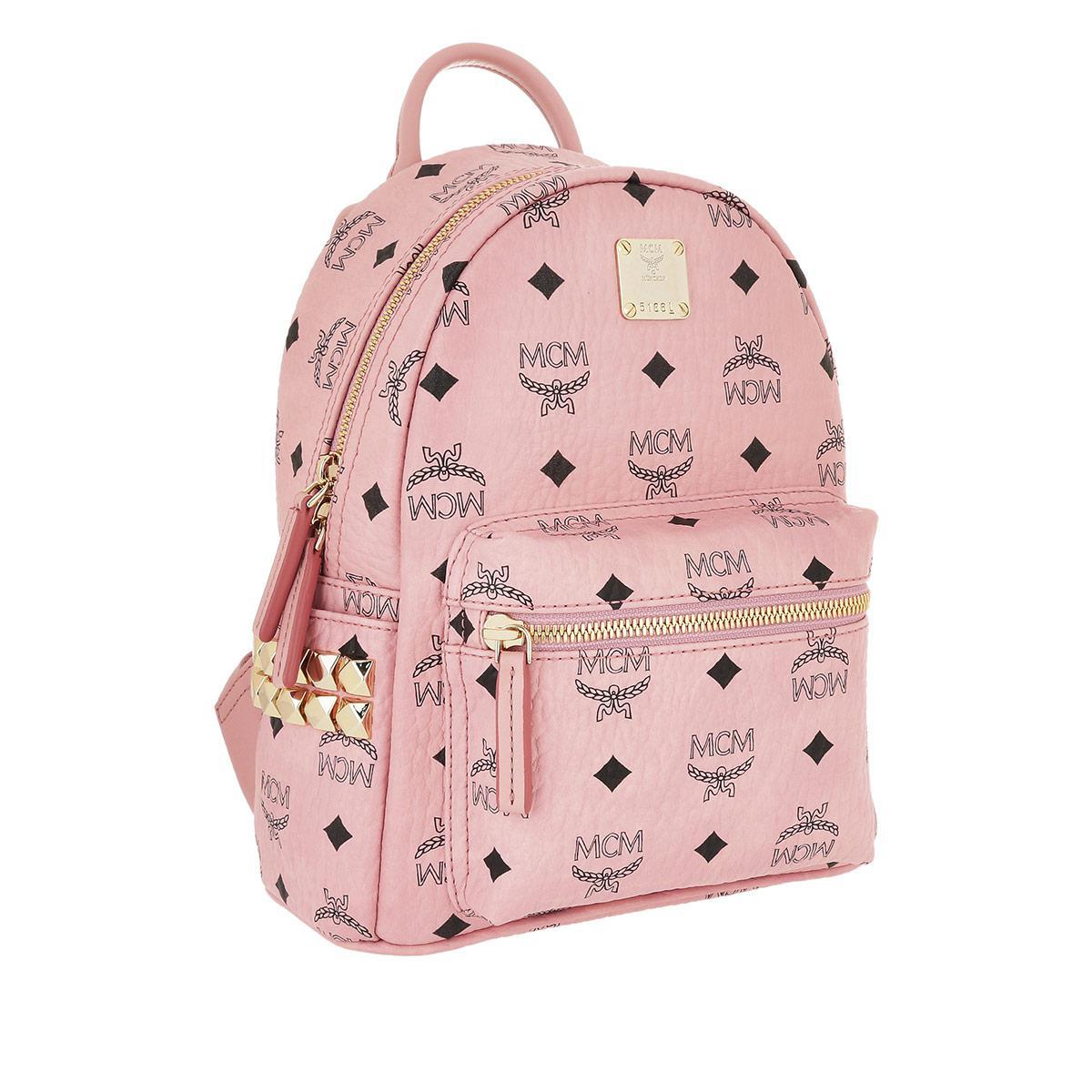 Mcm Stark Backpack Mini Soft Pink Lyst View Fullscreen