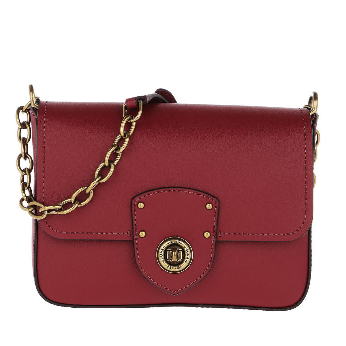 33e2f9d8c3 Lauren by Ralph Lauren Millbrook Crossbody Bag Smooth Leather Red in ...