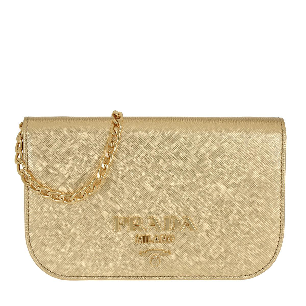 41fe9ac80e ... official store prada. womens metallic saffiano lux crossbody bag calf  leather gold 46102 10e50