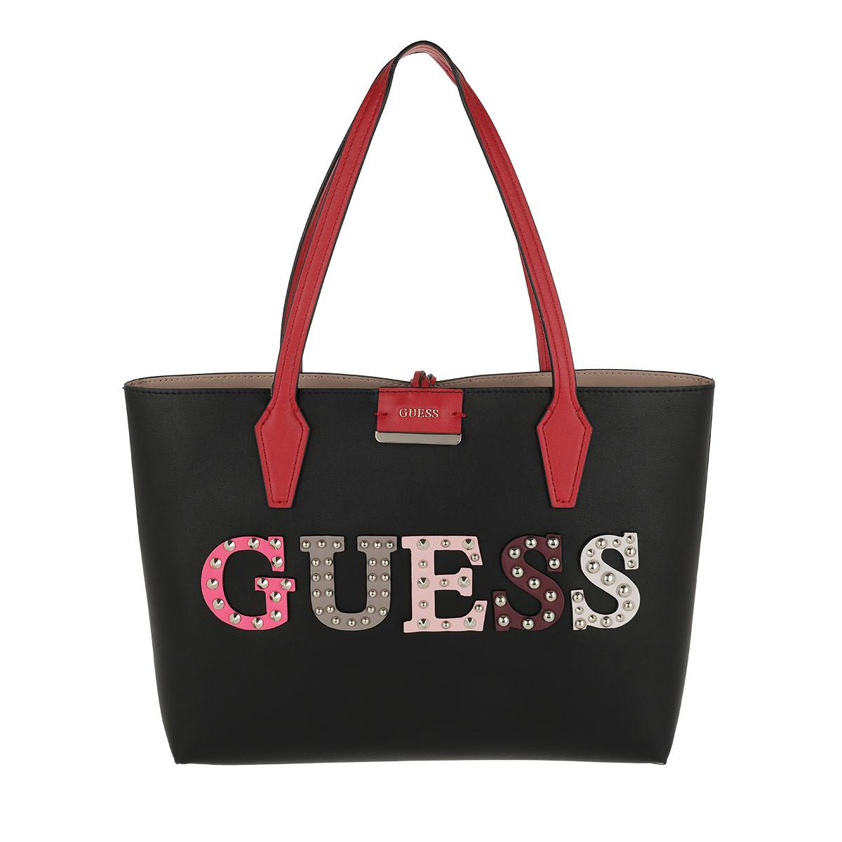 b849ea28c40f Guess - Bobbi Inside Out Tote Black nude - Lyst. View fullscreen