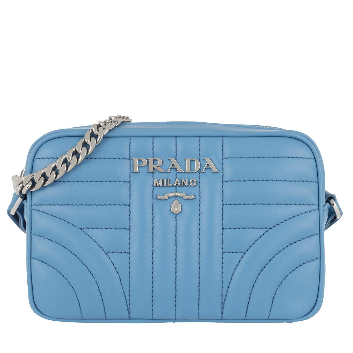 Cross Body Bags - iPhone Case Saffiano Logo Lettering Mare - blue - Cross Body Bags for ladies Prada dlZLJCw