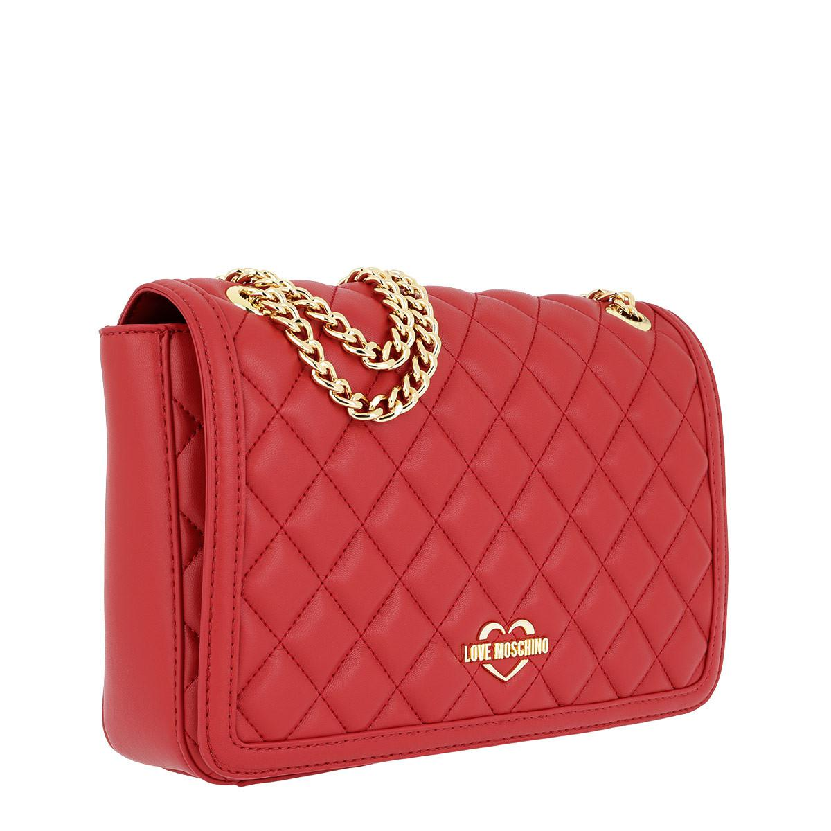 In Nappa Chain Bag Rossa Love Lyst Red Quilted Crossbody Moschino UOqtt0xE
