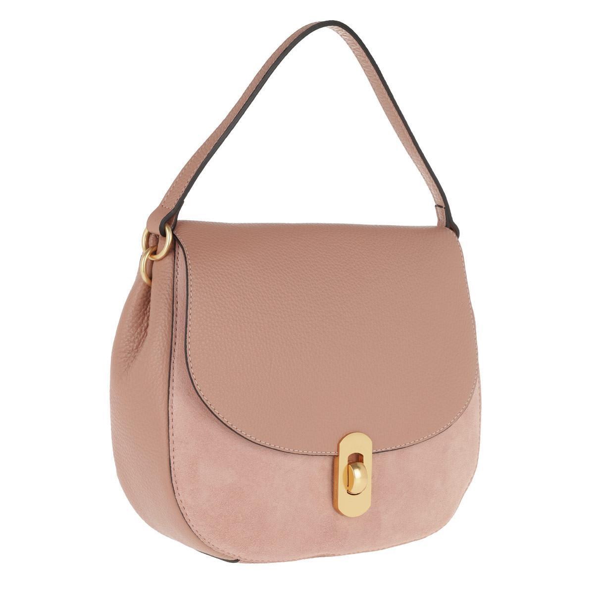 76a1775cbdf2e Coccinelle Zaniah Bimaterial Hobo Bag New Pivoine in Pink - Lyst
