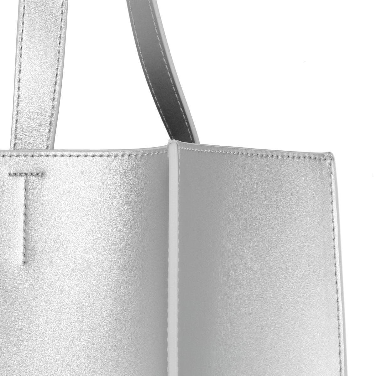 bf6ade0cd6aa8 Ted Baker Elissa Statement Letters Shopper Silver in Metallic - Lyst