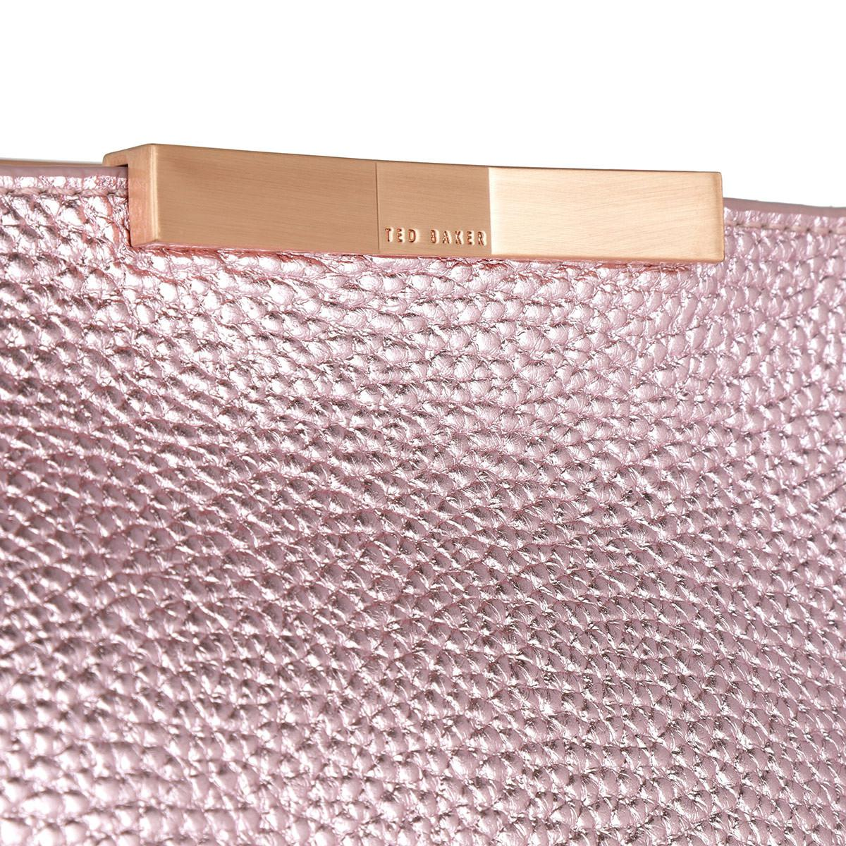 4ee7309191 Ted Baker Criesia Metallic Soft Grain Shopper Light Pink in Pink - Lyst