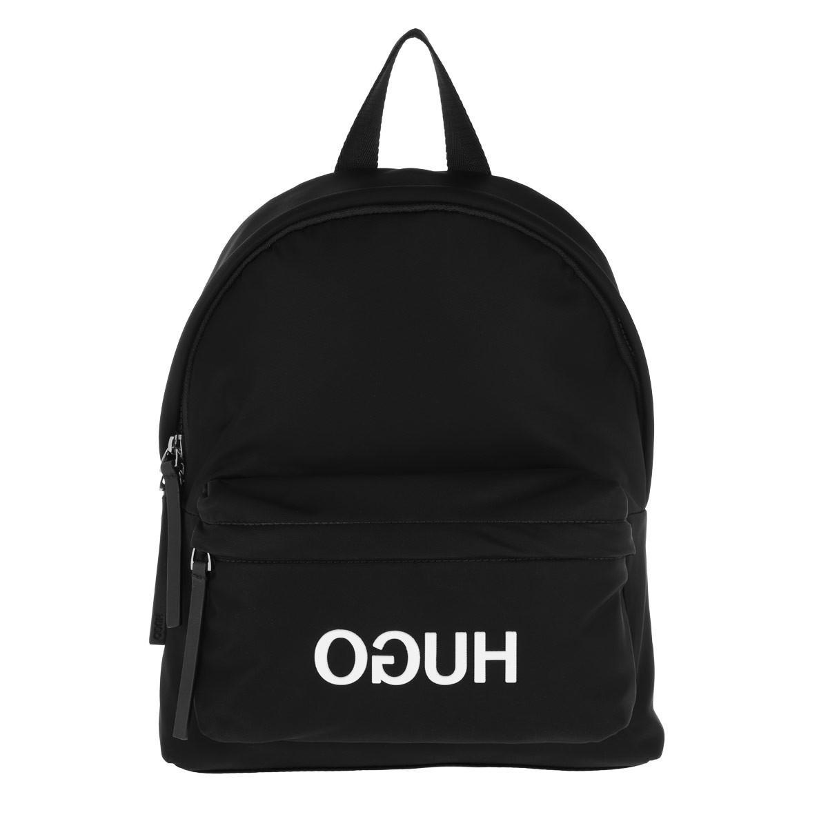 99bddb4db8f HUGO Record Backpack Black in Black - Lyst