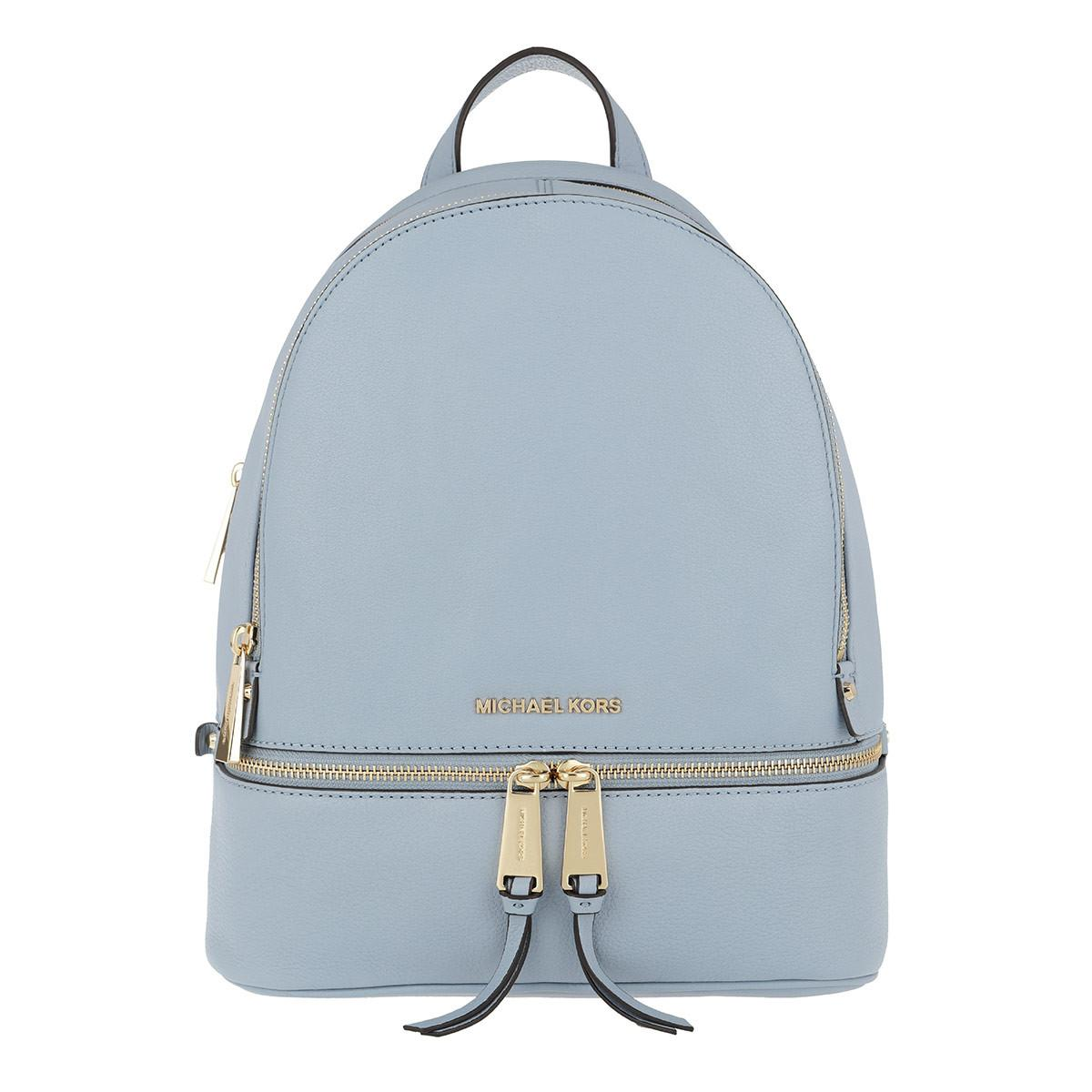 4117a29a1ec2 Michael Kors - Rhea Zip Medium Backpack Pale Blue - Lyst. View fullscreen