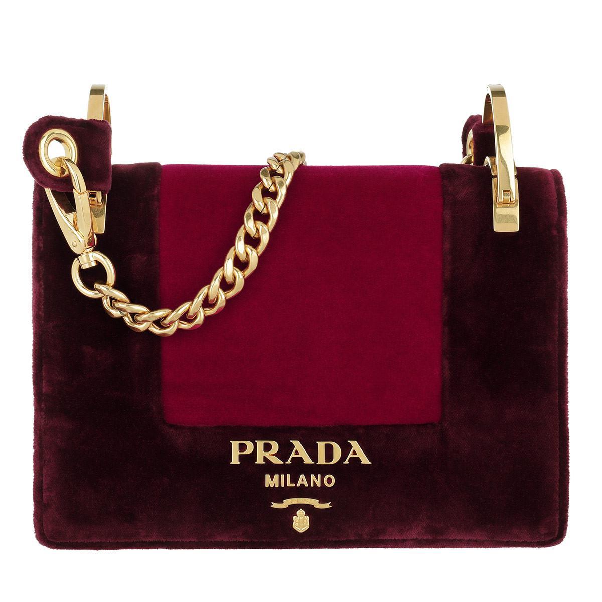 ce51862ce3e7 ... free shipping prada velvet shoulder bag ribesamarena lyst b97a2 dbb6e