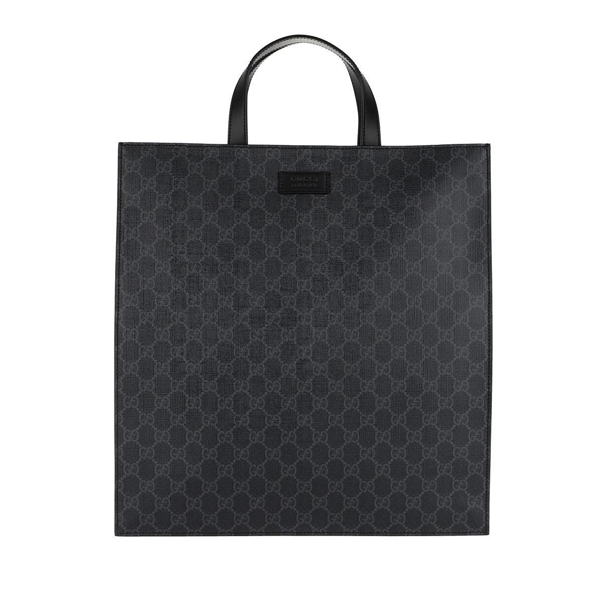 952edf4f70e70c Gucci Soft Gg Supreme Men Tote Black in Black - Lyst