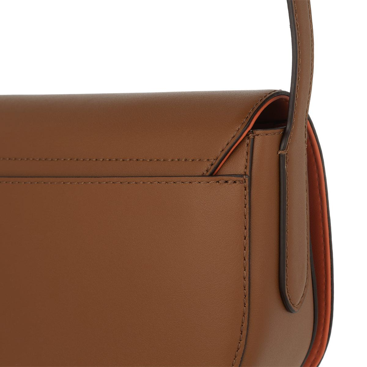 Lauren by Ralph Lauren Caley Mini Saddle Bag Field Brown monarch ... 98263487cb