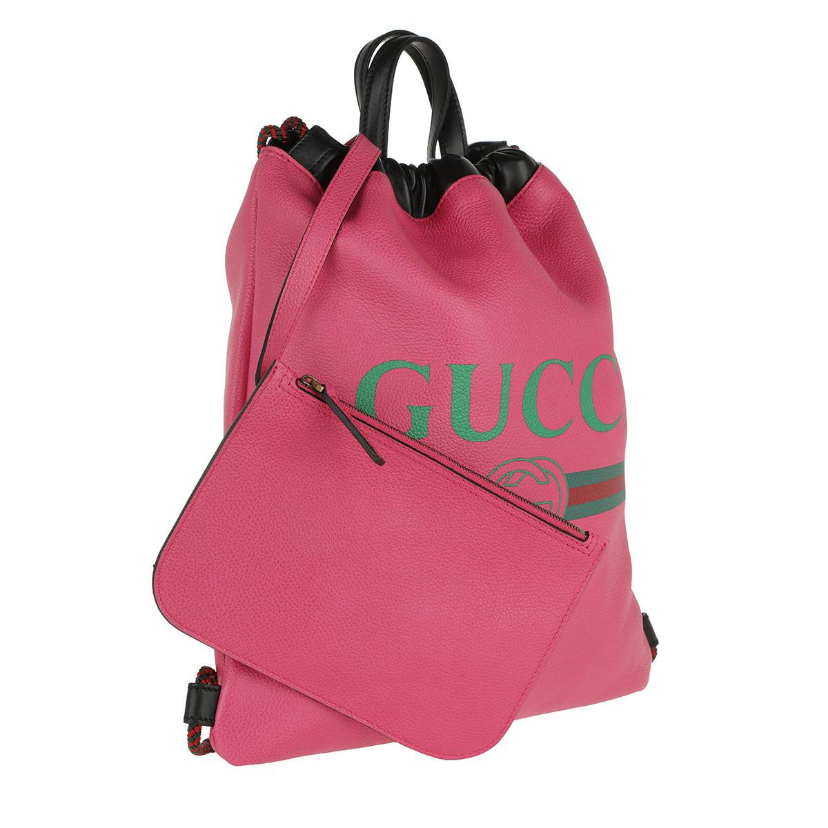 f39015aedc1e Gucci Print Small Drawstring Backpack Pink in Pink - Save 18% - Lyst