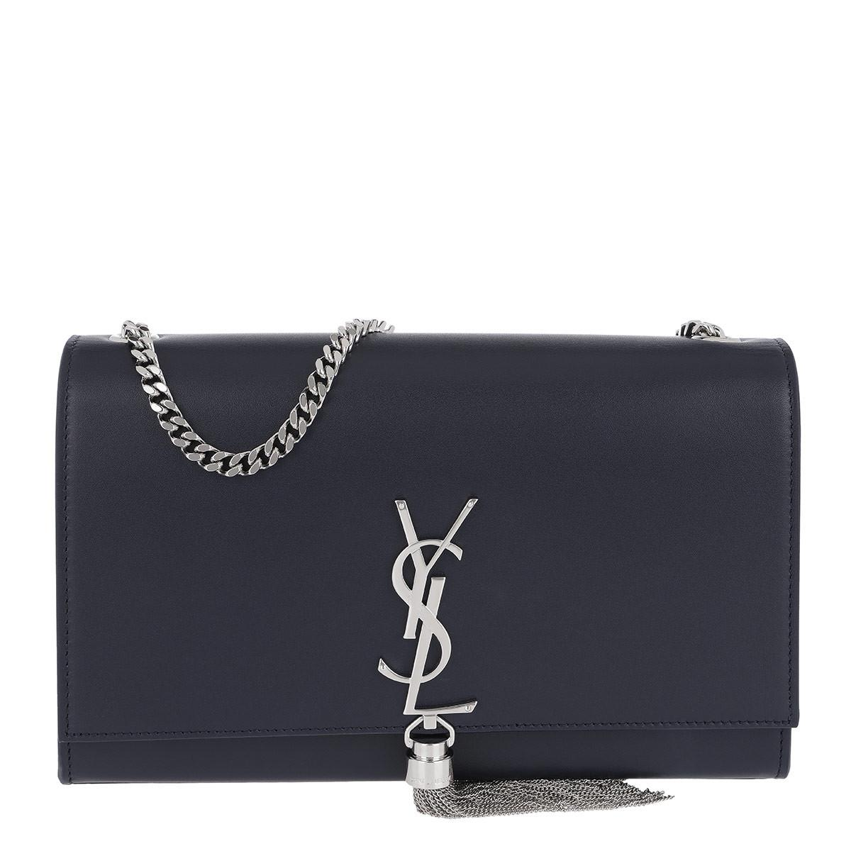 Saint Laurent Ysl Monogramme Medium Chain Bag Navy in Blue - Save 15 ... ede4c37d52