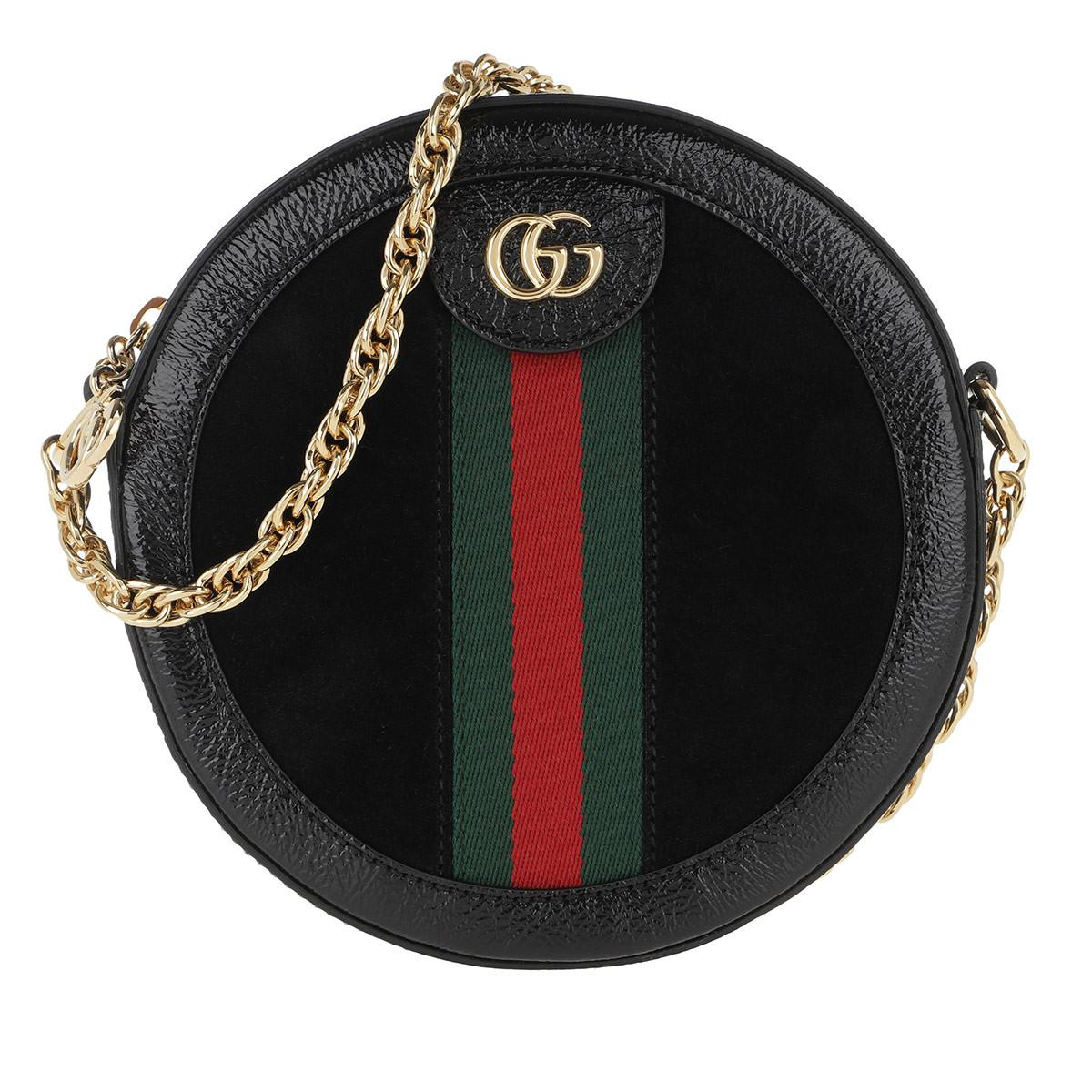 9617837d5f2646 Gucci Ophidia Mini Round Shoulder Bag Leather Black in Black - Save ...