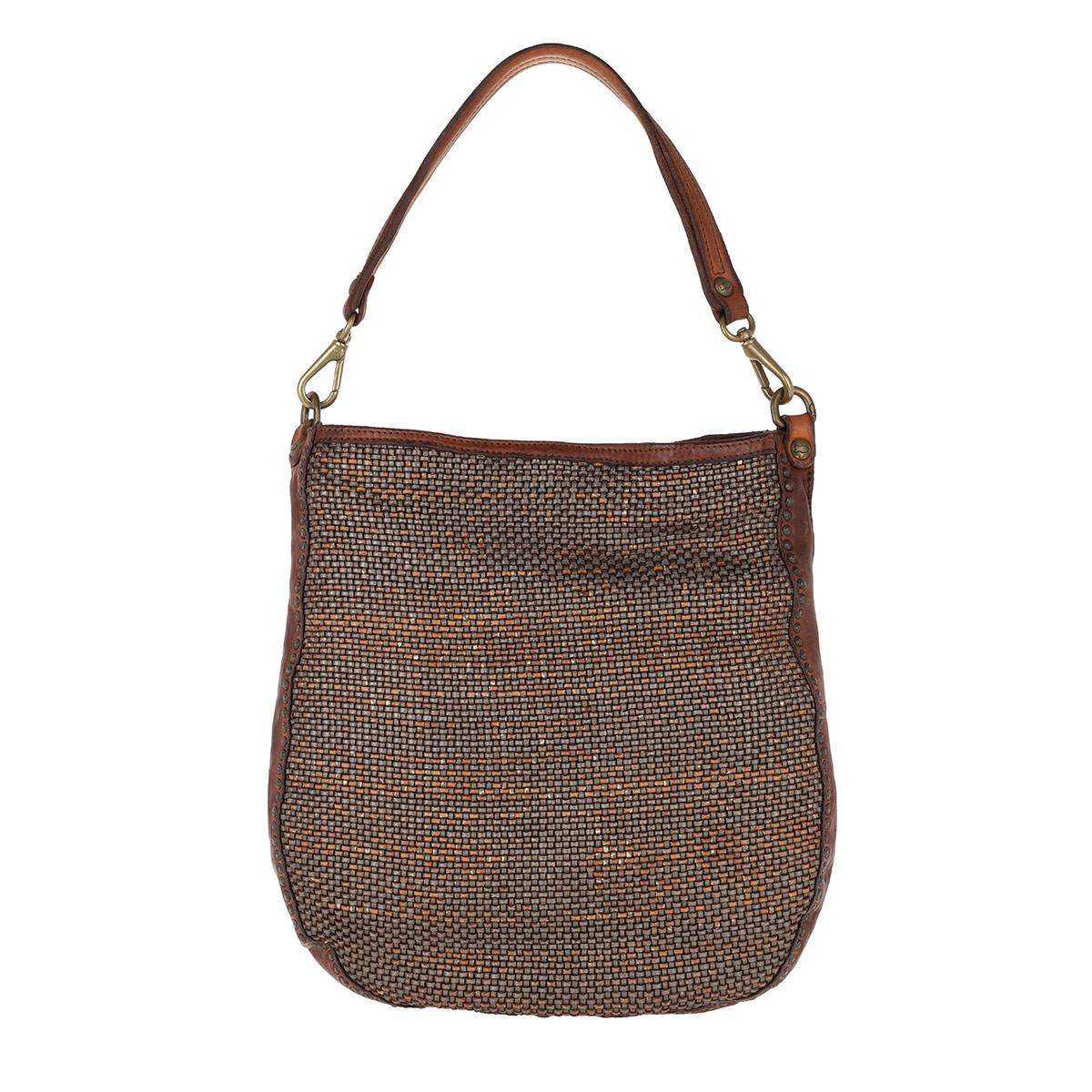 92e8570d7a7b Campomaggi Leather Hobo Bag Acciaio cognac in Brown - Lyst